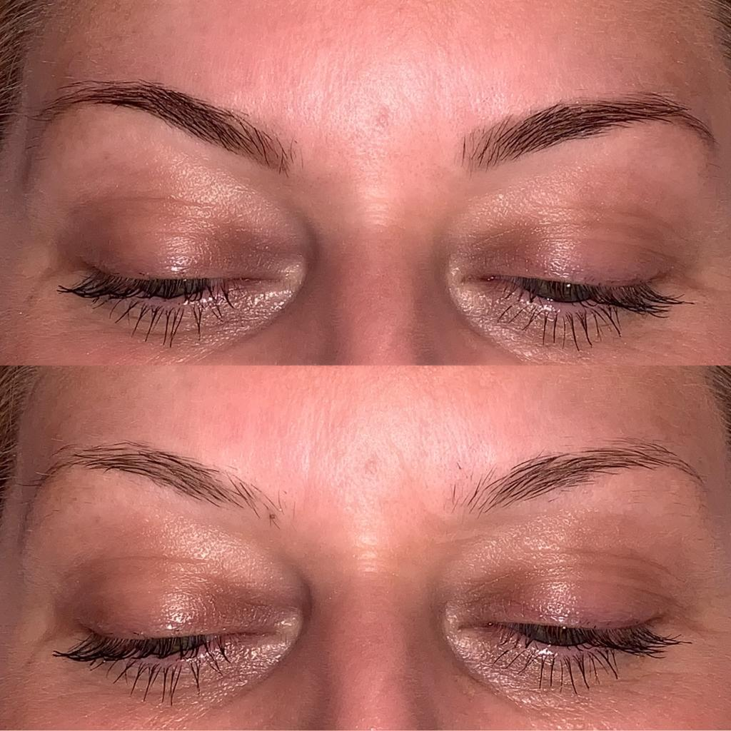Henna Brows, before and after